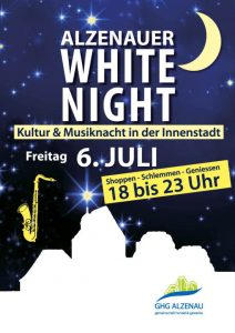 Plakat White Night Alzenau GHG