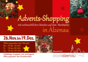 Plakat des GHG Adventsshopping 2020